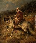 Adolf Schreyer - An Arab Horseman on the March