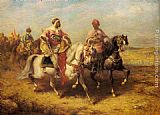 Adolf Schreyer - Arab Chieftain and his Entourage
