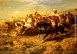 Adolf Schreyer - Arabian Horseman