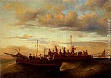 Adolphe Monticelli - Italian Fishing Vessels at Dusk