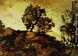 Adolphe Monticelli - Rocky Landscape