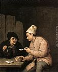 Adriaen van Ostade - Piping and Drinking in the Tavern