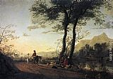 Aelbert Cuyp Canvas Paintings - A Road near a River