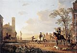 Aelbert Cuyp - Landscape with Horse Trainers