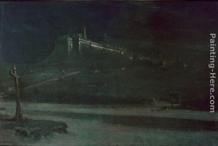 Albert Goodwin Sleeping in the Moonlight, Monastery of St Francis of Assisi