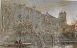 Albert Goodwin The Abby Church, Christchurch painting