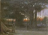 Famous Trees Paintings - The Banyan Trees and the Sentinel