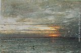 Albert Goodwin The Phantom Ship painting