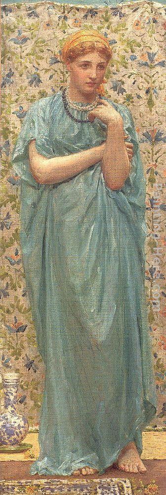 Albert Joseph Moore Marigolds Painting Framed Paintings