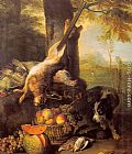 Alexandre-Francois Desportes - Still Life with Dead Hare and Fruit