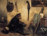 Alexandre-Gabriel Decamps - The Monkey Painter