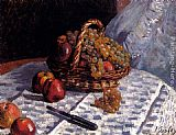 Alfred Sisley - Still Life Apples And Grapes