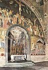 Andrea Bonaiuti da Firenze - Frescoes on the central wall