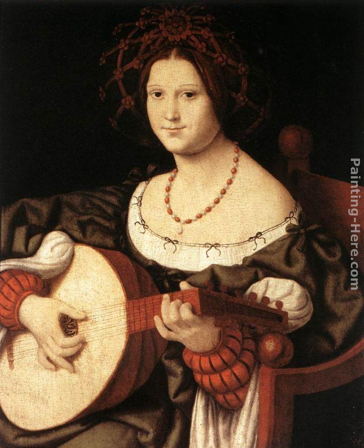 Andrea Solario The Lute Player