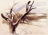 Andrew Wyeth - Winter Farm Scene