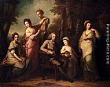 Angelica Kauffmann - Portrait Of Philip Tisdal With His Wife And Family