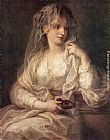 Angelica Kauffmann - Portrait of a Woman Dressed as Vestal Virgin