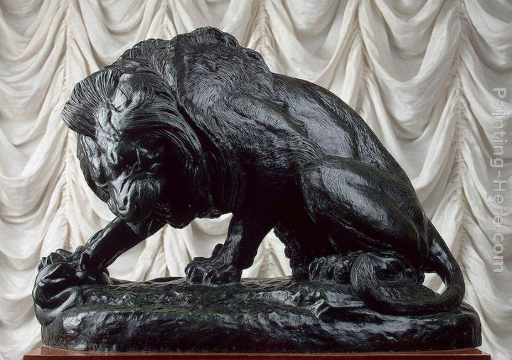 Antoine Louis Barye Lion and Serpent