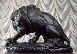 Antoine Louis Barye Lion and Serpent painting