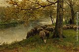 Anton Mauve - Sheep Watering by a River
