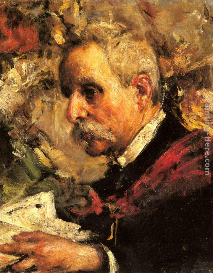 Antonio Mancini A Portrait of the Artist's Father