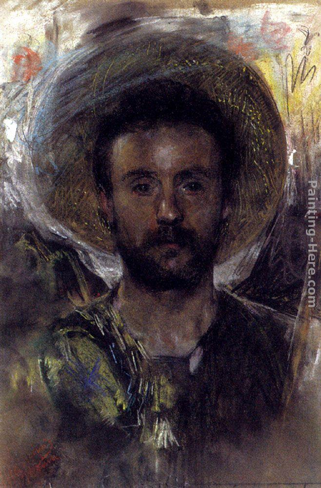 Antonio Mancini Self-portrait