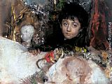 Antonio Mancini Portrait Of A Young Boy painting