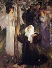 Arthur Hacker The Cloister or the World painting