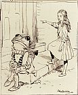 Arthur Rackham - Alice And The Frog Footman