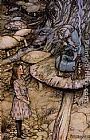 Arthur Rackham - Alice in Wonderland The Rabbit Sends in a Little Bill