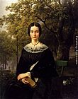 Barend Cornelis Koekkoek Portrait Of A Young Lady painting