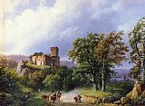 Barend Cornelis Koekkoek - The Ruined Castle