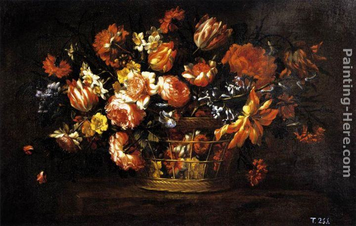 Bartolome Perez Basket of Flowers