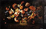 Bartolome Perez Basket of Flowers painting