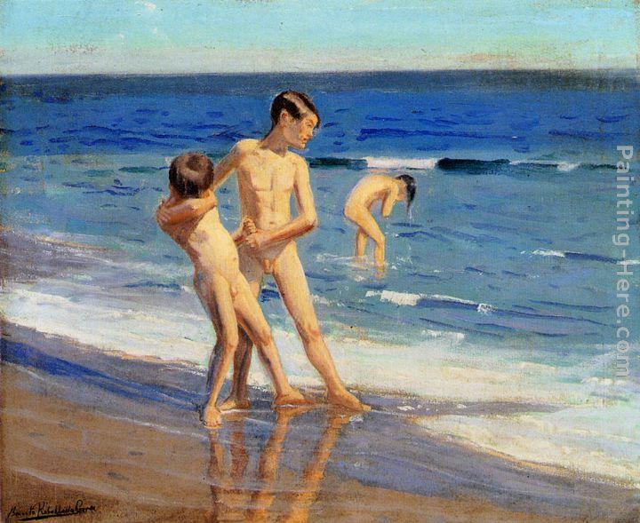 Benito Rebolledo Correa Boys At The Beach