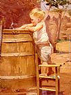 Benito Rebolledo Correa - A Boy At A Water Barrel