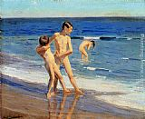 Benito Rebolledo Correa - Boys At The Beach