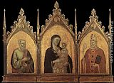 Bernado Daddi - Madonna and Child with Sts Matthew and Nicholas