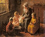 Famous Children Paintings - Mother and Children in an Interior