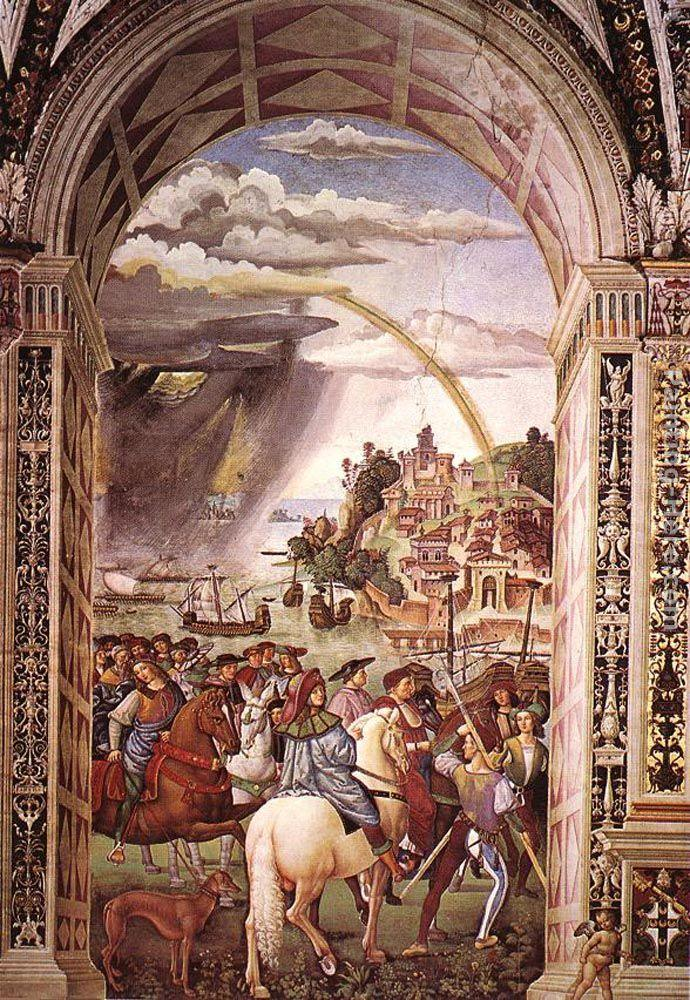 Bernardino Pinturicchio Aeneas Piccolomini Leaves for the Council of Basle