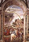 Bernardino Pinturicchio - Aeneas Piccolomini Leaves for the Council of Basle