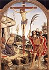 Bernardino Pinturicchio - The Crucifixion with Sts Jerome and Christopher