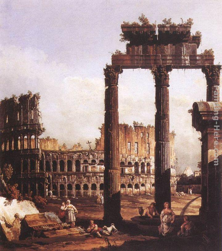 Bernardo Bellotto Capriccio with the Colosseum