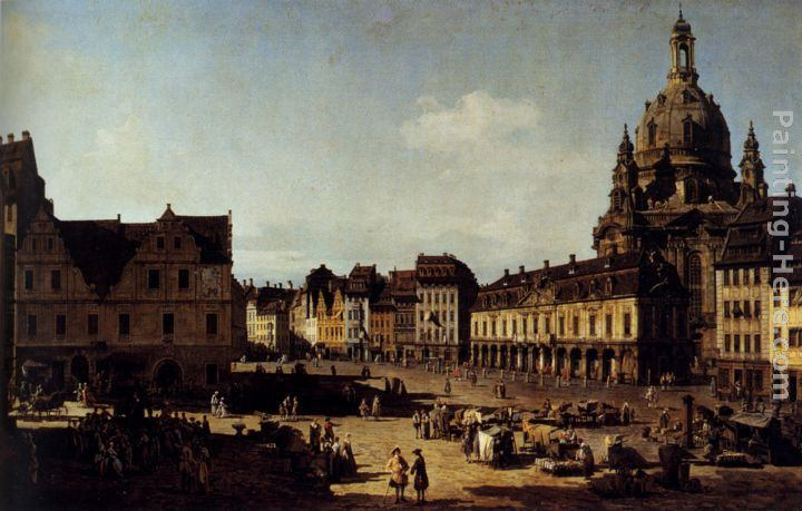 Bernardo Bellotto View Of The New Market In Dresden