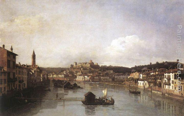 Bernardo Bellotto View of Verona and the River Adige from the Ponte Nuovo