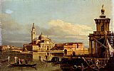 Bernardo Bellotto A View In Venice From The Punta Della Dogana Towards San Giorgio Maggiore painting