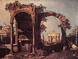 Canaletto - Capriccio Ruins and Classic Buildings