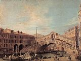 Canaletto - Grand Canal The Rialto Bridge from the South