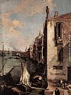 Canaletto - Grand Canal, Looking East from the Campo San Vio (detail)