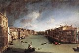 Canaletto - Grand Canal, Looking Northeast from Palazo Balbi toward the Rialto Bridge